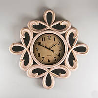 Необычные настенные часы с зеркальными вставками 51х5 см