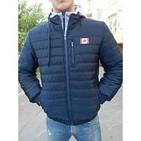 Мужская демисезонная курточка Канада (46-54р-ры) темно-синяя