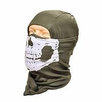 Балаклава с черепом Skull Olive Fostex