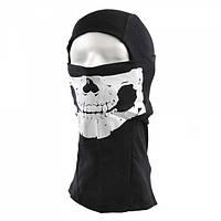 Балаклава с черепом Skull Black Fostex