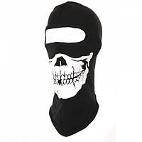 Балаклава с черепом Skull 1-hole Black Fostex