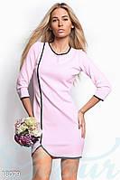 Асимметричное мини платье. Цвет розовый.