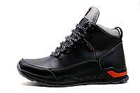 Мужские кроссовки зимние, высокие, на меху, натуральная кожа, черные с серым, р. 40 42 43 44 45, фото 1
