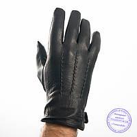 Мужские кожаные перчатки из оленьей кожи с шерстяной подкладкой - №M31-4