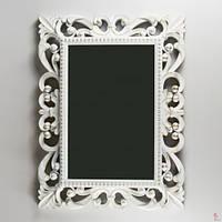 Зеркало в классическом стиле, 61см*46см.*5см., белое