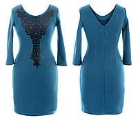 Платье женское рукав 3/4 потайная молния