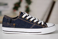 Мужские кеды Converse Retro Jeans Chuck Taylor All Star (конверс) синие