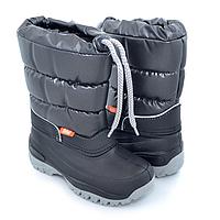 Сапоги-дутики на осень и зиму Demar Лакки черные р.25-35 обувь от непогоды для детей и подростков
