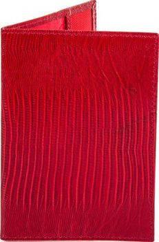 Женская великолепная кожаная обложка для паспорта CANPELLINI (КАНПЕЛЛИНИ) SHI002-15 красная