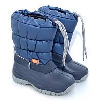 Сапоги-дутики на осень и зиму Demar Лакки синие р.25-35 обувь от непогоды для детей и подростков