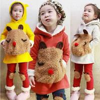 Флисовый комплект одежды для девочки, костюм, набор, р. 100-140 (4-10 лет)