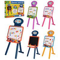 Доска знаний, Детский мольберт 3 в 1 UK/RU/ENG 0703