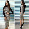 Платье женское ниже колен гусиная лапка, фото 2