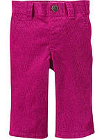Детские штаны вельветовые розовые на девочку 6-12 мес Old Navy
