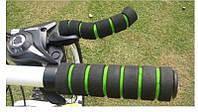 Грипсы 2+2 вело неопреновые ручки велосипедные зел