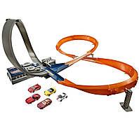 Моторизированный Трек Хот Вилс  6 Машинок Hot Wheels Figure 8 Raceway Motorised Track Set & 6 Cars