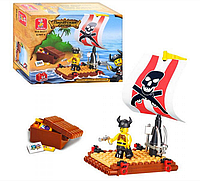 "Конструктор SLUBAN ""Пиратский плот"" 64 дет,  M38 B 0277 R"
