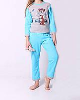 Интересная детская пижама на байке для девочки