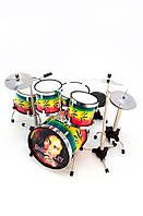 Барабанная установка Bob Marley сувенир 13 х 13 х 11 см