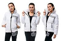 Женская модная куртка плащевка-лак