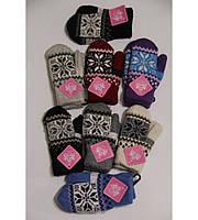 Двойные детские рукавички, ангора, от 2 до 5 лет