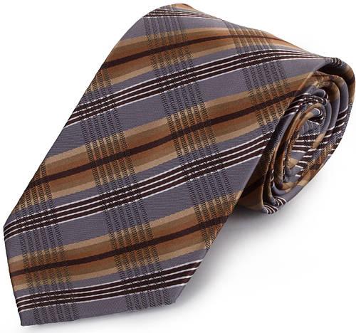 Шикарный мужской широкий галстук SCHONAU & HOUCKEN (ШЕНАУ & ХОЙКЕН) FAREPS-78 коричневый