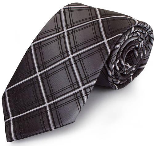 Простой мужской широкий галстук SCHONAU & HOUCKEN (ШЕНАУ & ХОЙКЕН) FAREPS-84 серый