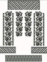 Заготовка для вишивки жіночого плаття-вишиванки під бісер (ПЛд-081)