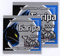 Багіра Парафіновий брикет родентицид від гризунів 100 г