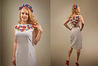 Заготовка для вишивки жіночого плаття-вишиванки під бісер (БС-12с)
