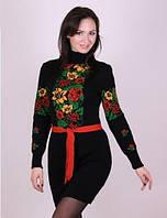 Женское теплое вязанное платье Рябина