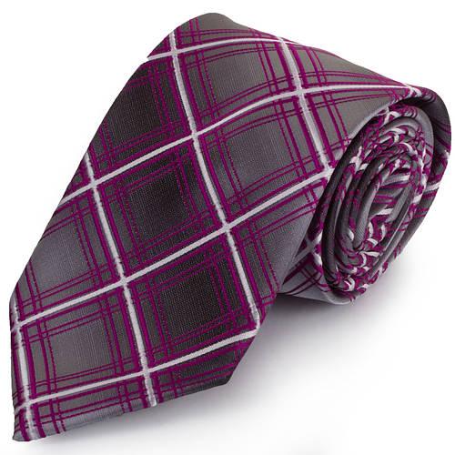 Удобный мужской широкий галстук SCHONAU & HOUCKEN (ШЕНАУ & ХОЙКЕН) FAREPS-86 фиолетовый