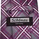 Удобный мужской широкий галстук SCHONAU & HOUCKEN (ШЕНАУ & ХОЙКЕН) FAREPS-86 фиолетовый, фото 3