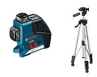 Линейный лазерный нивелир Bosch GLL 2-80 P + BS 150 + вкладка под L-Boxx