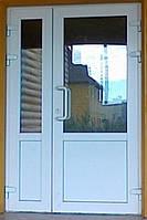Дверь входная с магазинной ручкой, 1500х2150, Rehau 60.