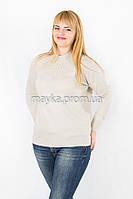 Теплый гольф свитер вязаный р.50-52 цвет бежевый