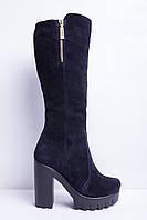 Зимние женские сапоги на толстом каблуке