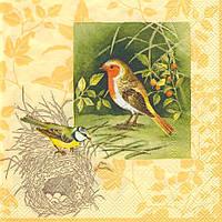 Декупажная салфетка Птицы 2148