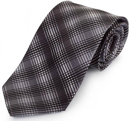 Актуальный мужской широкий галстук SCHONAU & HOUCKEN (ШЕНАУ & ХОЙКЕН) FAREPS-94 серый