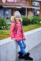 """Зимняя модная куртка на девочку подростка """"Моника"""", розовая"""