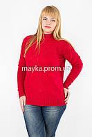 Гольф свитер вязаный р.54-56 цвет красный Y936