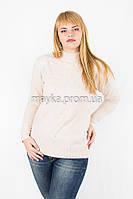 Кофта гольф свитер вязаный р.54-56 цвет молочный Y936