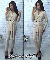 Женский деловой костюм пиджак и брюки