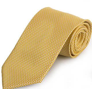 Обворожительный мужской широкий галстук SCHONAU & HOUCKEN (ШЕНАУ & ХОЙКЕН) FAREPS-102 желтый