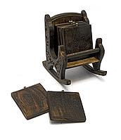 Кресло деревянный подстаканник