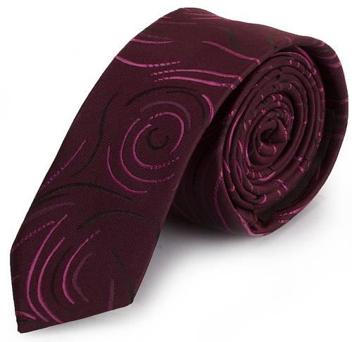 Восхитительный мужской узкий галстук SCHONAU & HOUCKEN (ШЕНАУ & ХОЙКЕН) FAREPY-05 бордовый