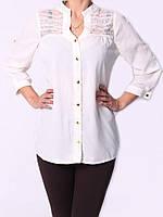 Деловая женская блуза белого цвета