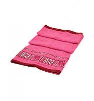 Банное полотенце розовое с вышивкой