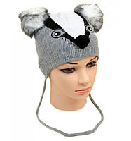 Модная вязаная шапка для детей