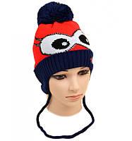 Вязаная зимняя шапка для мальчика